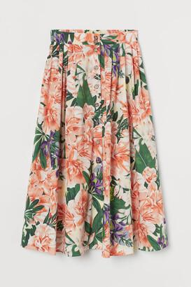H&M Button-front cotton skirt