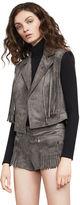 BCBGMAXAZRIA Mike Faux-Suede Fringe Vest