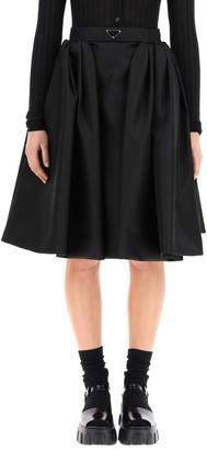 Prada Re-Nylon Gabardine Wide Skirt