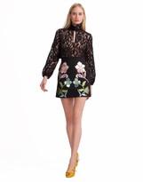 Cynthia Rowley Rainbow Leather Applique Mini Skirt