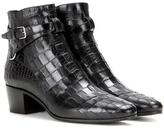 Saint Laurent Blake 40 Jodhpur Leather Ankle Boots