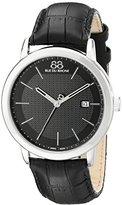 88 Rue du Rhone Men's 87WA130010 Double 8 Origin Analog Display Swiss Quartz Black Watch