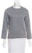 Narciso Rodriguez Houndstooth Patterned Top
