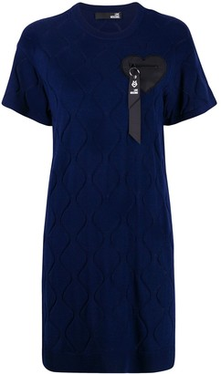 Love Moschino Short-Sleeve Fitted Dress
