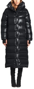 S13 Harper High-Shine Maxi Hooded Puffer Coat