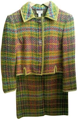 Philosophy di Alberta Ferretti Green Wool Dress for Women Vintage
