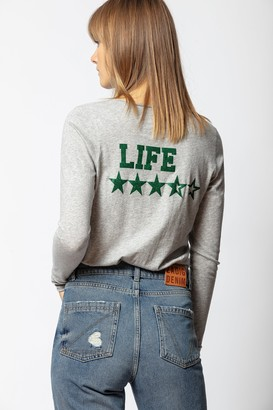 Zadig & Voltaire Life Strass Tunisian Collar T-shirt