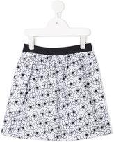 Armani Junior floral print skirt - kids - Cotton - 4 yrs