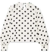 RIXO London - Imogen Polka-dot Crepe Top - White