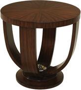 Maitland-Smith Zebrano Round Side Table, Auburn/Cocoa