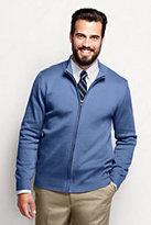 Lands' End Men's Big Performance Zip Cardigan Sweater-China Blue