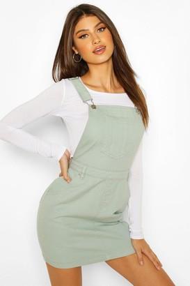 boohoo Denim Pinafore Dress