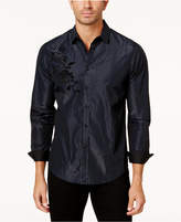 INC International Concepts Men's Striped Flocked Shirt, Created for Macy's