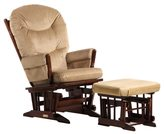 Dutailier Coffee/ Light Brown 2-post Glider and Ottoman Set