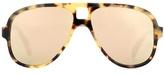 Acne Studios Hole Aviator mirrored sunglasses