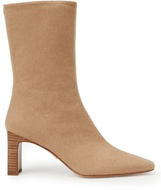 Lafayette 148 New York Anna Camel Hair Ankle Boots