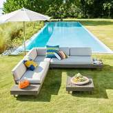 west elm Portside Outdoor Low 3-Piece Sectional - Weathered Gray