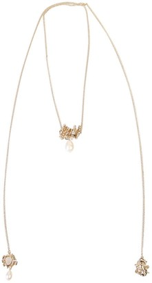 Givenchy Gold Finish Metal Necklace