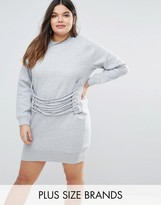 Missguided Plus Eyelet Lace Detail Sweater Dress