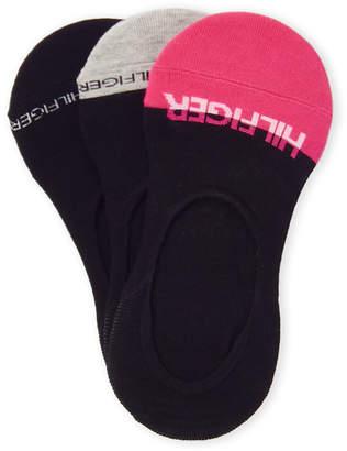 Tommy Hilfiger 3-Pack Contrast Non-Slip Heel Socks