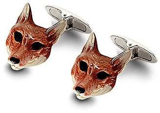Aspinal of London Sterling Silver & Enamel Animal Cufflinks