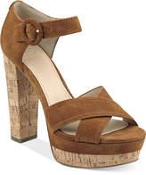 GUESS Women's Parris Two-Piece Platform Sandals Women's Shoes
