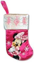 "Disney 7"" Mini Satin Christmas Stocking with Embroidery & Hangtag (Minnie Mouse)"