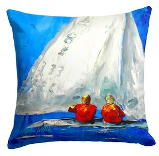 Twos Company Longshore Tides Gavin Sailboat Two's Company Indoor/Outdoor Throw Pillow Longshore Tides