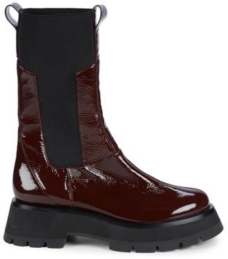 3.1 Phillip Lim Kate Lug-Sole Patent Leather Combat Boots