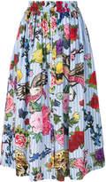 Philipp Plein floral full midi skirt