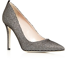 Sarah Jessica Parker Women's Fawn Fishnet Pointed-Toe Pumps