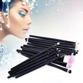 Redcolourful Cosmetic Brushes Eyeshadow Eyebrow Brush Makeup Brush Set Eye Brushes 15 Pcs