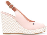 Tommy Hilfiger wedge sandals - women - Cotton/rubber/Leather - 36