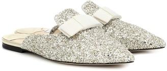 Jimmy Choo Galaxy Flat glitter slippers