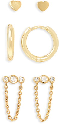 Argentovivo Set of 3 Mismatched Earrings