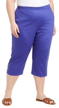 Alfred Dunner Plus Size Pull-On Capris