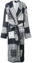 Dolce & Gabbana polka dot squares coat