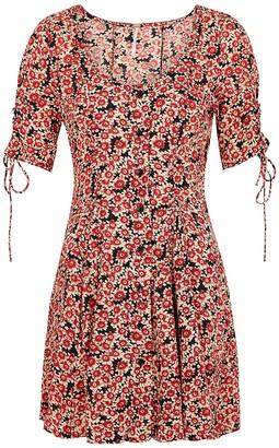 Free People Floral-print woven mini dress