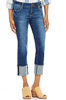 KUT from the Kloth Cameron Wide Cuff Capri Jeans