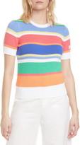 Polo Ralph Lauren Stripe Short Sleeve Cotton Sweater