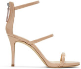 Giuseppe Zanotti Pink Patent Alien Sandals
