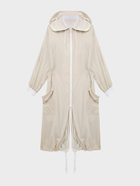DKNY Pure Reversible Oversized Nylon Hooded Coat