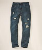 DKNY Indigo Rinse Straight-Leg Jeans - Boys