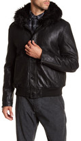 John Varvatos Hooded Leather Coat
