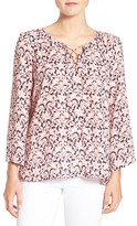 Cupcakes And Cashmere &Sophie& Print Lace-Up Blouse