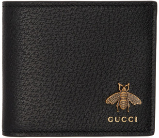 Gucci Black Animalier Bee Wallet
