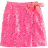 J.Crew Girls' sequin faux-wrap skirt