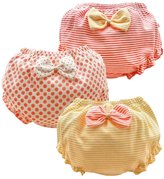 JIEYA Baby Toddlers Girls Cotton Underwear Bow-knot Princess Briefs,Pack of 3