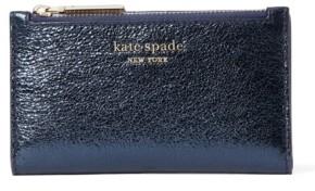 Kate Spade Spencer Metallic Small Slim Bifold Wallet