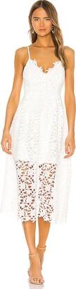 ASTR the Label Lace A Line Midi Dress